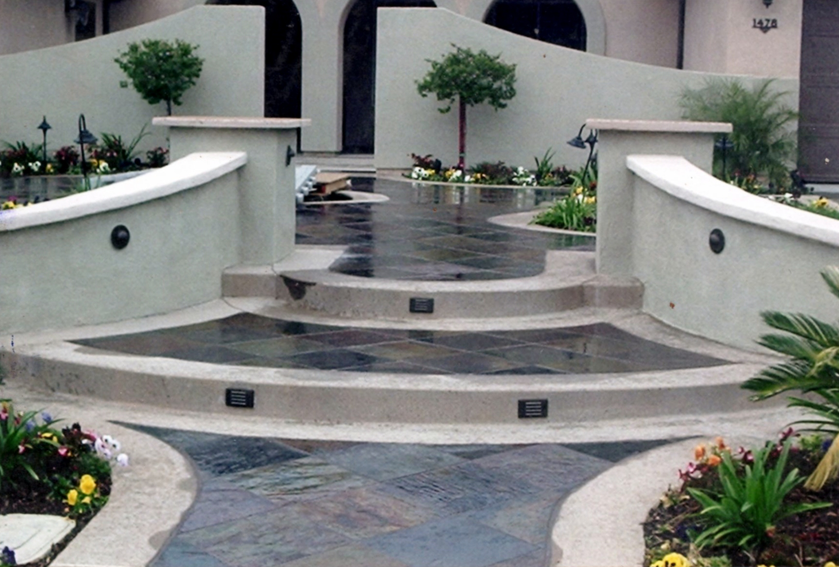 decorative concrete Vancouver WA stamped stained concrete retaining walls
